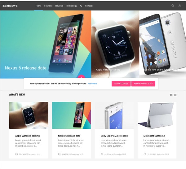 technical news joomla theme