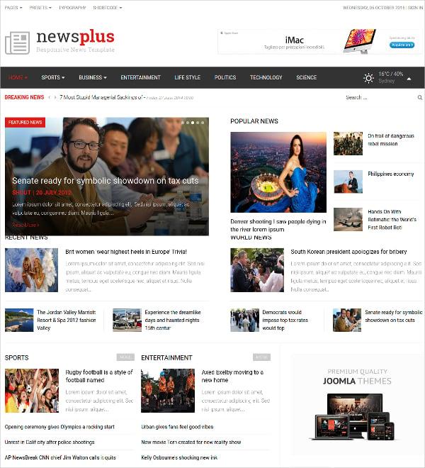 Responsive Magazine Joomla Template
