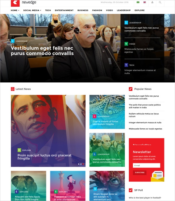 popular joomla magazine news template