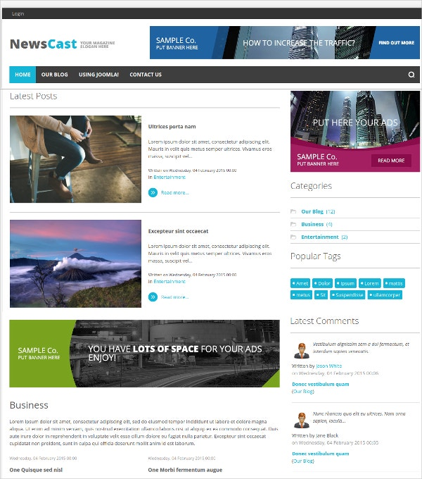 Unique News Joomla Template