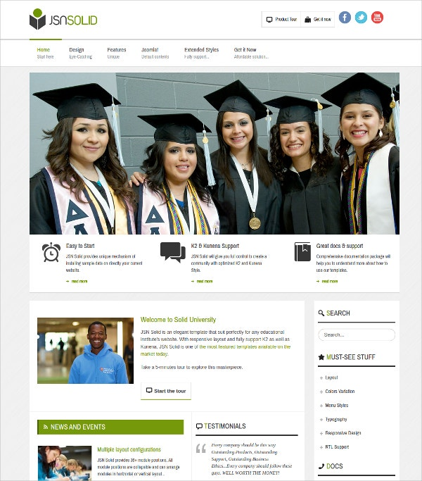 Education News Joomla Template