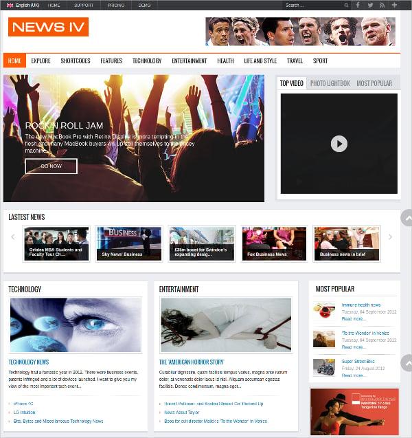 Fully Responsive Magazine Joomla Template