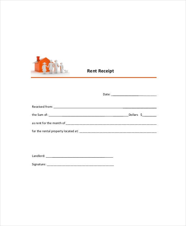 Tenant Rent Receipt Template