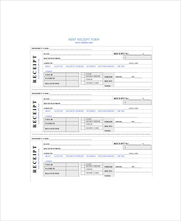 Rent Receipt Template - 8+ Free Word, Pdf Documents Download