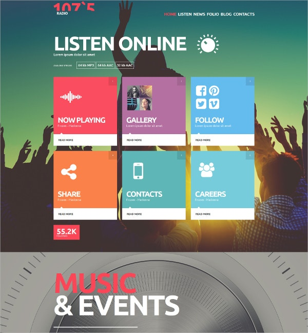 Radio Station & Gallery Joomla Website Template $75