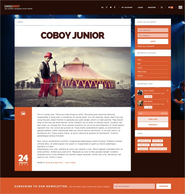 Radio Station & Party WooCommerce Website Theme $64