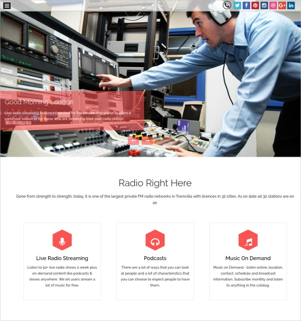 Radio Station Industry WordPress Website Theme