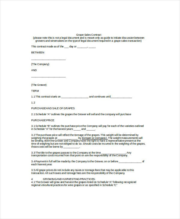 Contract Template - 10+ Free Word, Pdf Documents Download | Free