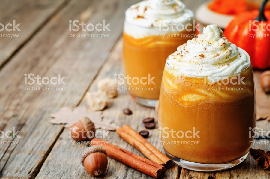 Ice Honey Pumpkin Spice Latte