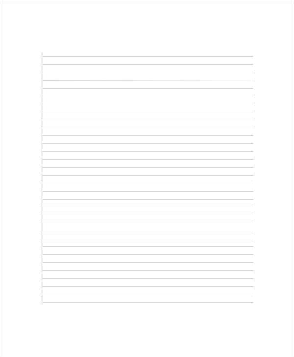Lined Paper Templates - 6+ Free Word, Pdf Documents Download