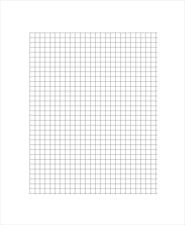 Graph Lined Paper Template