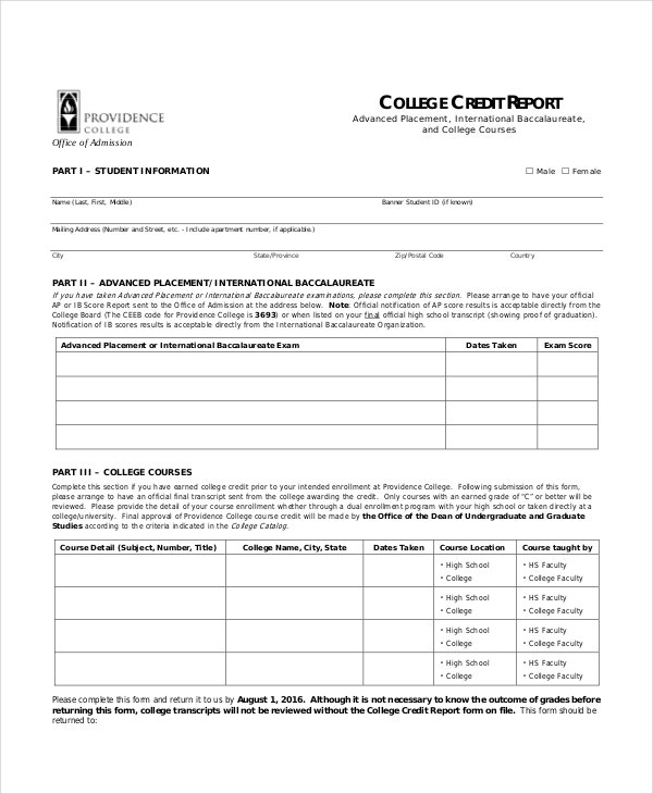 Credit-Report-Template Credit Application Form In Word Format on blank automotive, free rental, small business, car dealership,