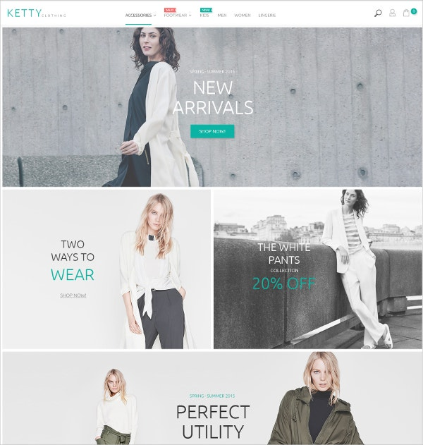fashion store ecommerce bootstrap template 179