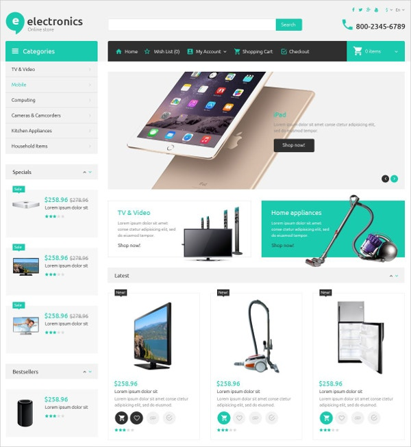 19 ecommerce bootstrap themes templates free premium templates. Black Bedroom Furniture Sets. Home Design Ideas