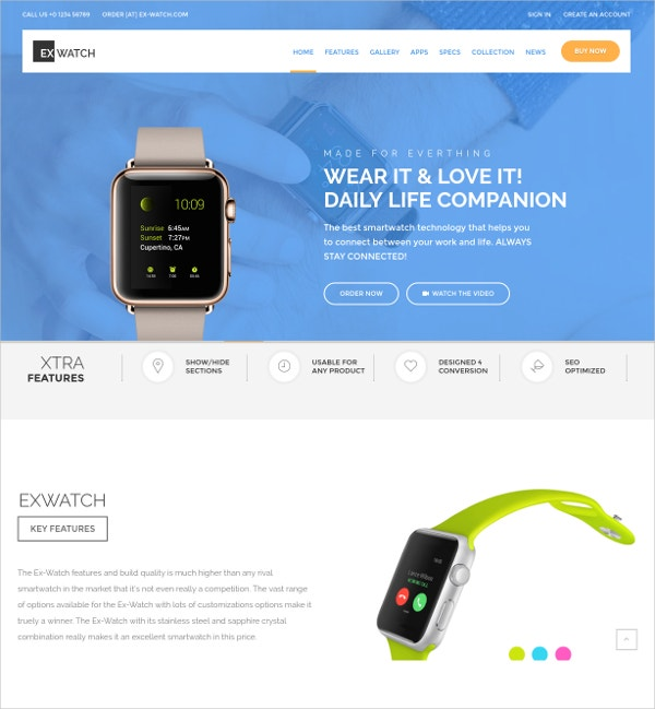 Single Product eCommerce Bootstrap Template $56