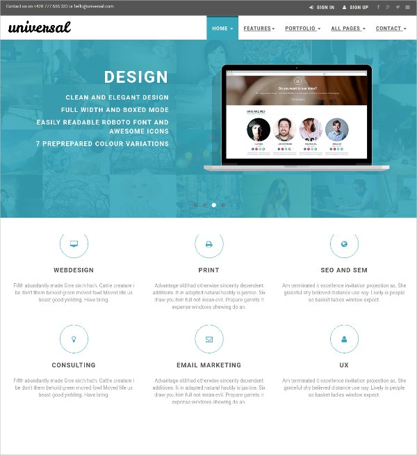 Business & eCommerce Bootstrap Template