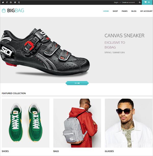 Elegant eCommerce Bootstrap Theme $18