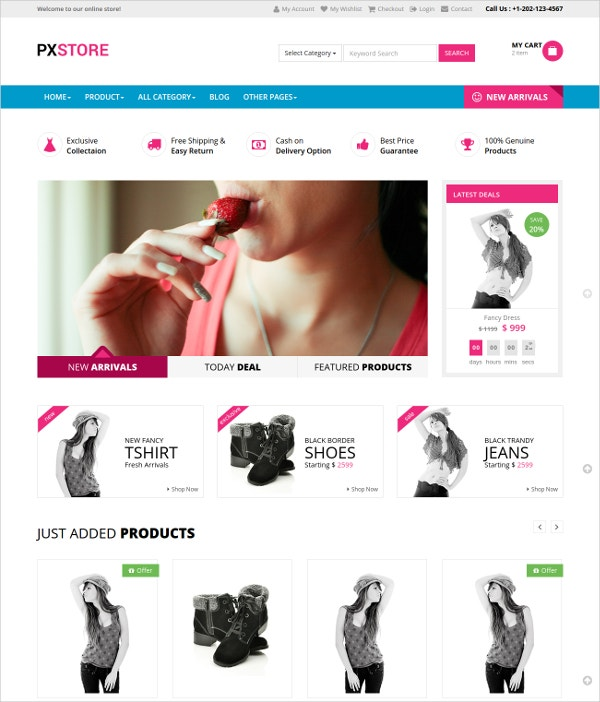 Multipurpose eCommerce Bootstrap Template $10