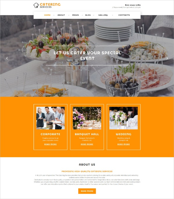 Restaurant & Tasty Food Responsive Joomla Website Template $75