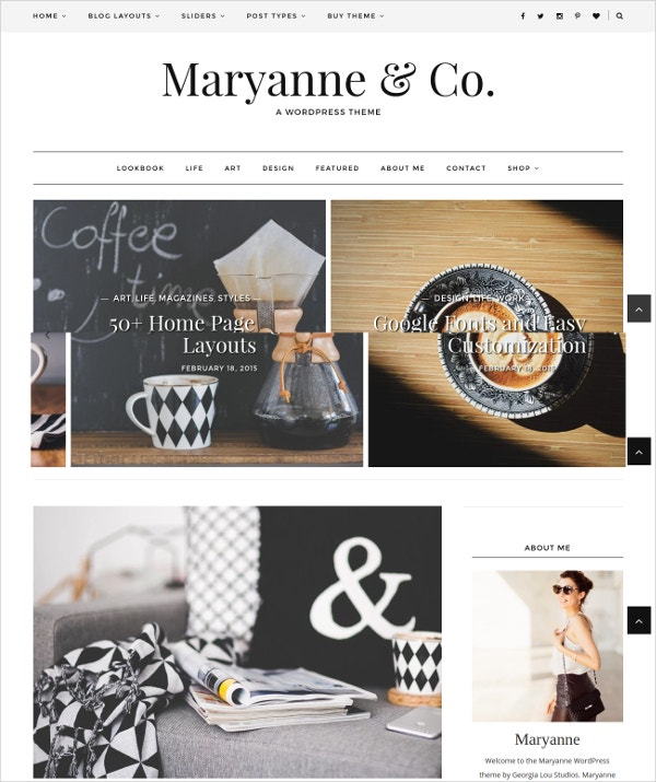 Fashion Blog WordPress Theme Responsive $39