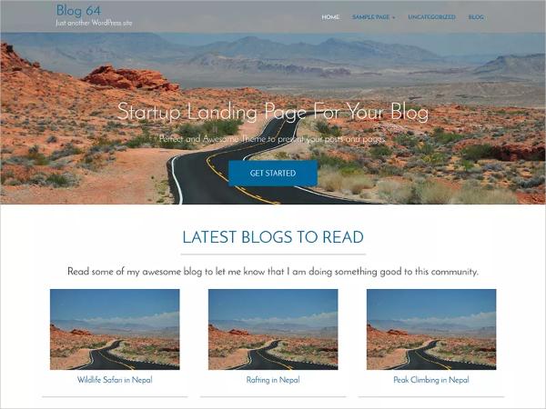 blue free responsive wordpress website theme
