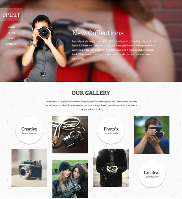 Photographer Gallery Portfolio Responsive Website Template
