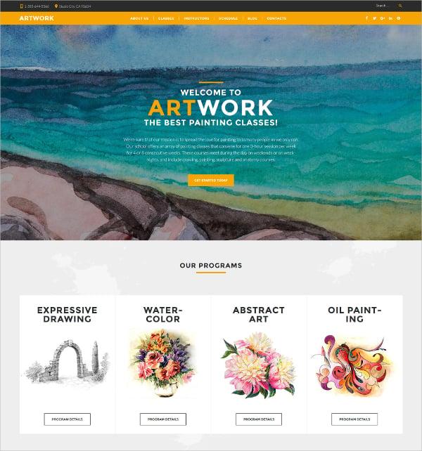 art school responsive html5 website theme 75