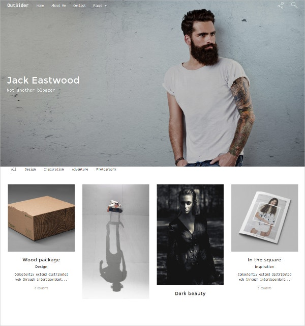 Minimal Responsive HTML5 Blog Website Template $12