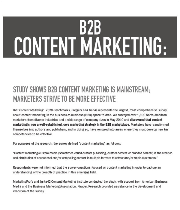 9 Content Marketing Examples Free Premium Templates