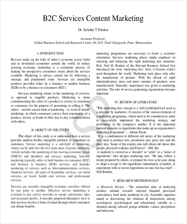 B2C Content Marketing Example