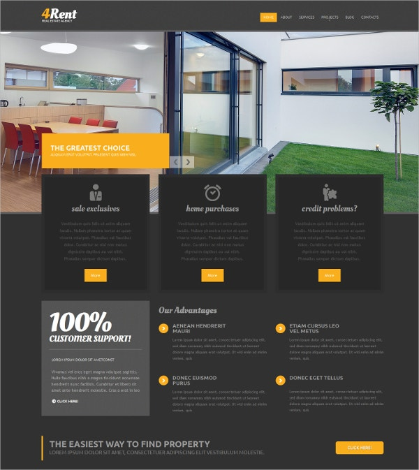 Real Estate Agency Responsive Drupal Website Template $75