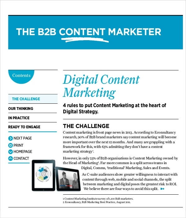 Digital Content Marketing Example