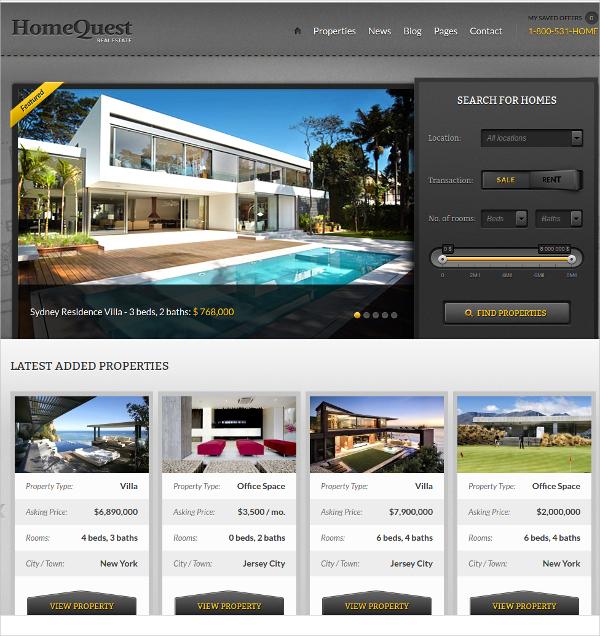 unique real estate wordpress theme
