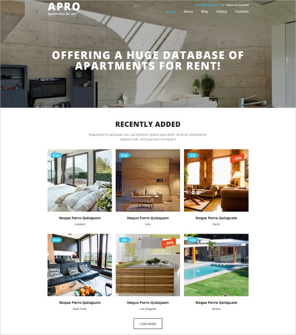 real estate business joomla website template 75