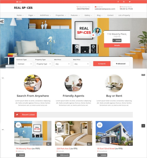 wordpress real estate rental theme 49
