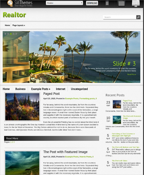 free real estate wordpress theme download