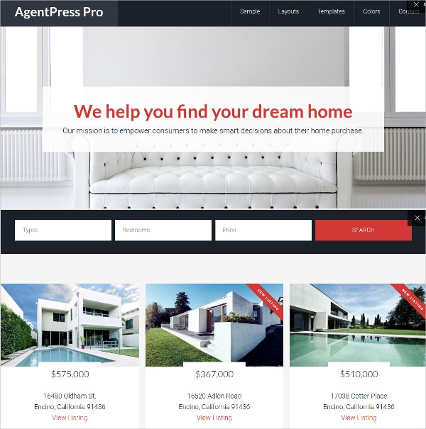 business realtor wordpress website theme 99