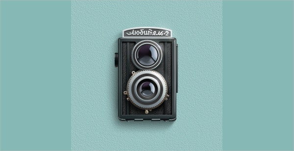film retro camera icon