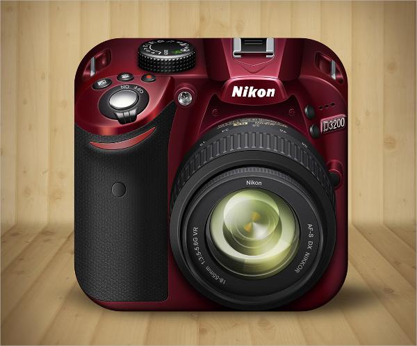 ios camera icon design