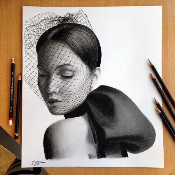 Jennifer Lawrence Charcoal Drawing