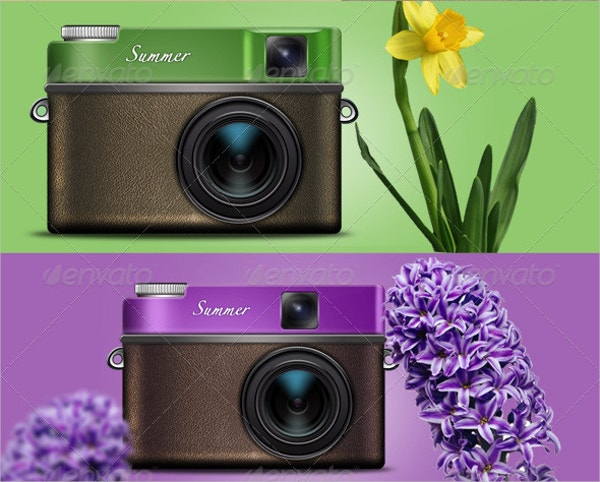 Green&Purple Colored Camera Icon