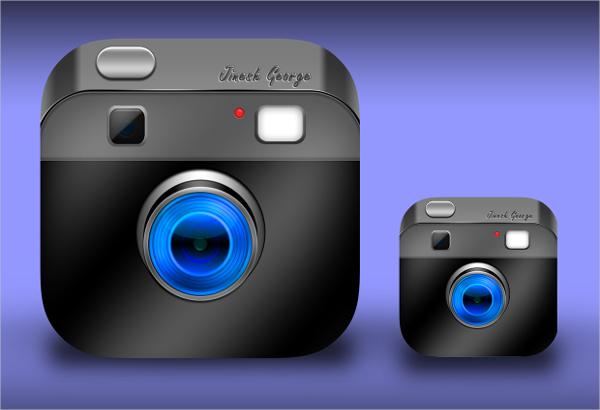 Vintage Camera Icon Design