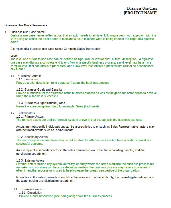 Case template 9 free word pdf documents download free business use case template accmission Gallery