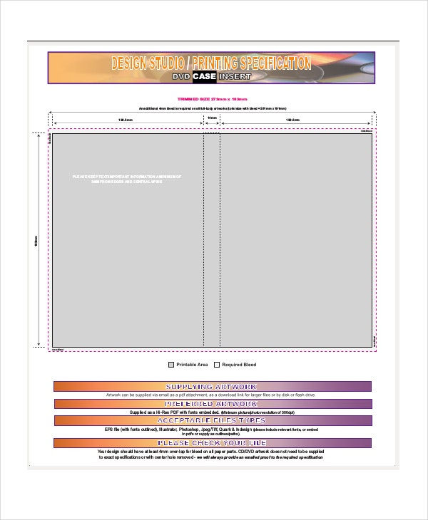 Dvd Case Template