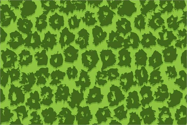 Leopard Green Color Pattern