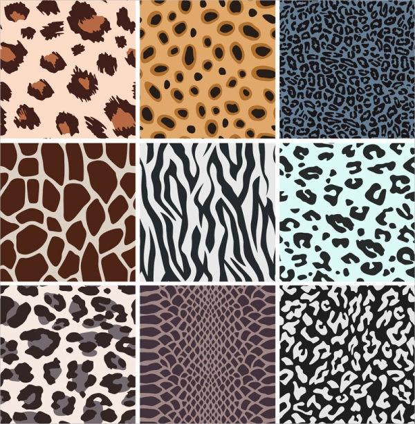 set of free seamless weird leopard patterns