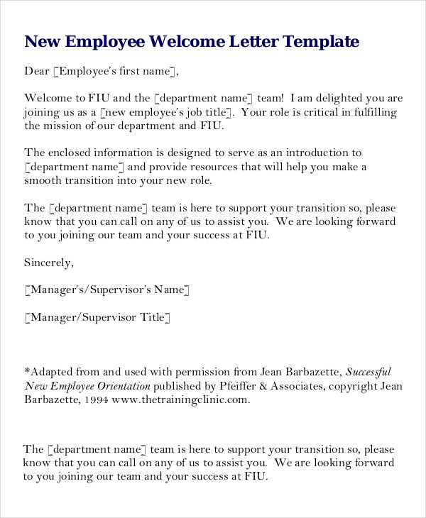 Welcome email message template trattorialeondoro welcome letter new employee the letter sample spiritdancerdesigns Gallery