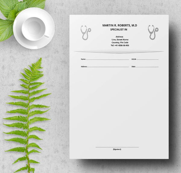 Gynecologist Doctor's Prescription Template