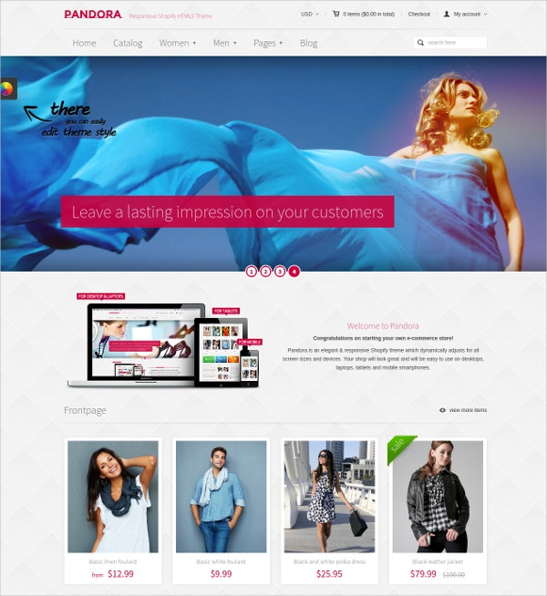 responsive shoping html5 website theme 56
