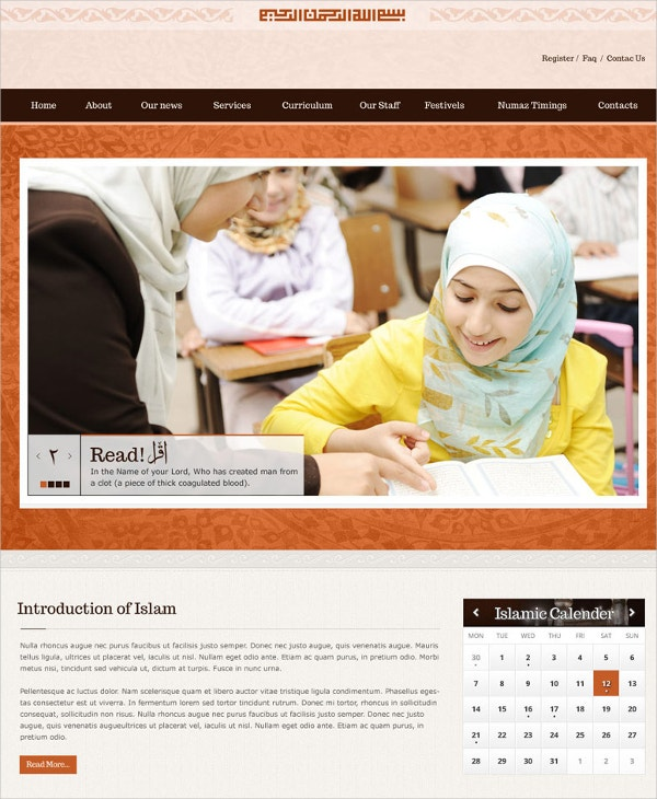 Islamic Responsive HTML5 Website Theme $17